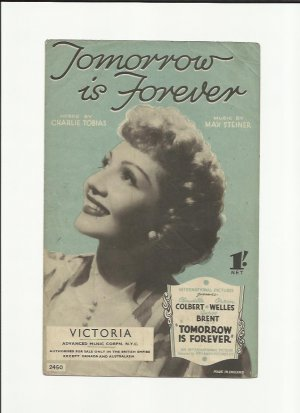 Tomorrow is forever - Old Sheet Music by Victoria