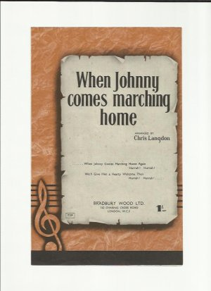 When Johnny comes marching home - Old Sheet Music by Bradbury Wood