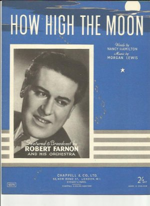 How high the moon - Old Sheet Music by Chappell