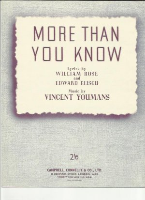More than you know - Old Sheet Music by Campbell Connelly