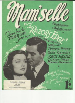 Mam'selle - Old Sheet Music by Francis Day & Hunter