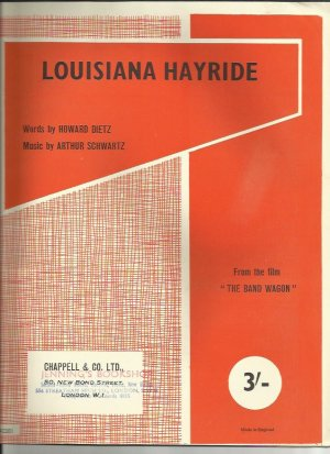 Liousiana Hayride - Old Sheet Music by Chappell