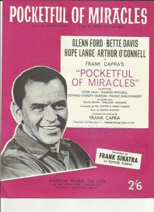 Pocketful of miracles - Old Sheet Music by Barton