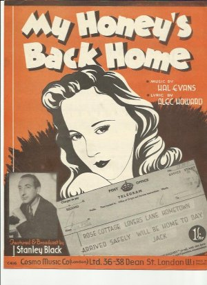 My honey's back home - Old Sheet Music by Cosmo