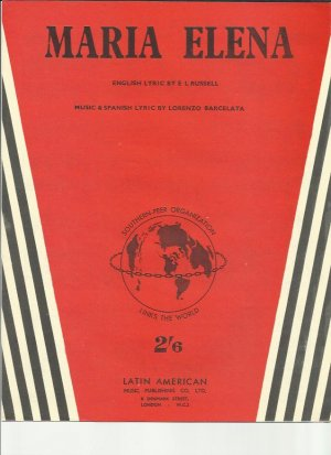Maria Elena - Old Sheet Music by Latin American
