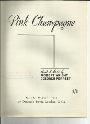 Pink champagne - Old Sheet Music by Mills