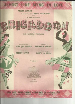 Almost like being in love - Old Sheet Music by Sam Fox