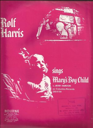 Mary's boy child - Old Sheet Music by Bourne