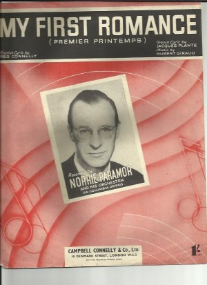 My first romance - Old Sheet Music by Campbell Connelly