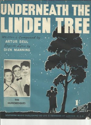 Underneath the linden tree - Old Sheet Music by Southern