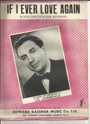If I ever love again - Old Sheet Music by Kassner