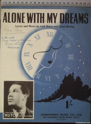 Alone with my dreams - Old Sheet Music by Cinephonic