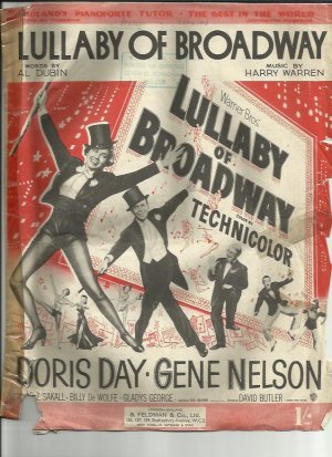 Lullaby of Broadway - Old Sheet Music by Feldman