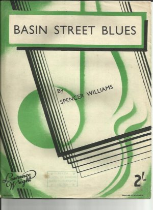 Basin Street Blues - Old Sheet Music by Lawrence Wright