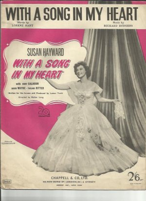 With a song in my heart - Old Sheet Music by Chappell