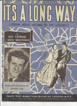 It's a long way - Old Sheet Music by Toff