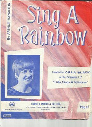 Sing a rainbow - Old Sheet Music by Morris