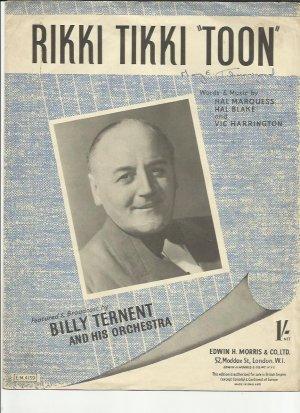 Rikki Tikki Toon - Old Sheet Music by Morris