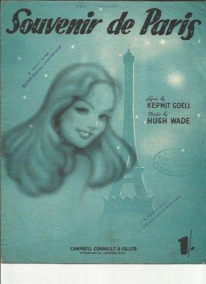Souvenir de Paris - Old Sheet Music by Campbell Connelly