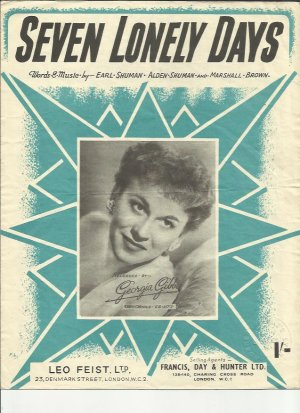 Seven lonely days - Old Sheet Music by Francis Day & Hunter