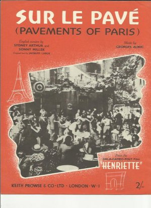 Sur Le Pave - Old Sheet Music by Prowse