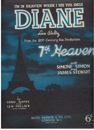 Diane - Old Sheet Music by Keith Prowse & Co Ltd