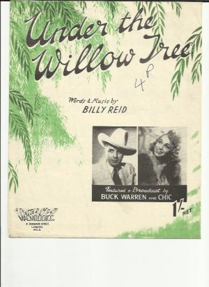 Under the willow tree - Old Sheet Music by Macmelodies