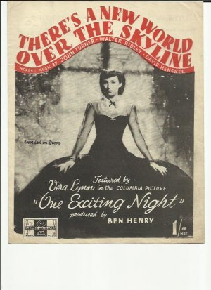There's a new world over the skyline - Old Sheet Music by Peter Maurice