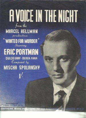 A voice in the night - Old Sheet Music by Southern