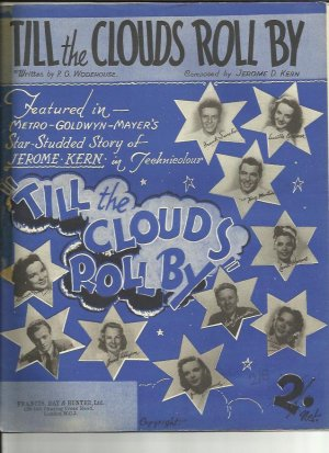 Till the clouds roll by - Old Sheet Music by Francis Day & Hunter