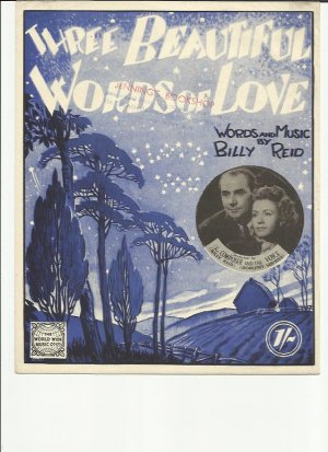Three beautiful words of love - Old Sheet Music by World Wide Music