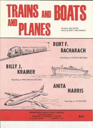 Trains and boats and planes - Old Sheet Music by Belinda