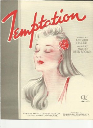 Temptation - Old Sheet Music by Francis Day & Hunter