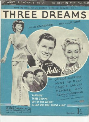 Three dreams - Old Sheet Music by Feldman