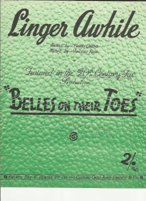 Linger awhile - Old Sheet Music by Francis Day & Hunter