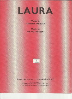 Laura - Old Sheet Music by Robbins