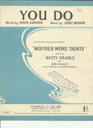 You do - Old Sheet Music by Chappell