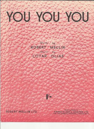You you you - Old Sheet Music by Francis Day & Hunter