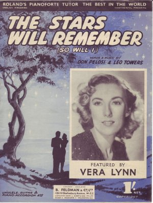 The stars will remember - Old Sheet Music by Feldman