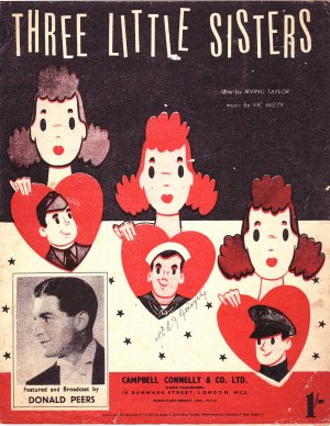 Three little sisters - Old Sheet Music by Campbell Connelly