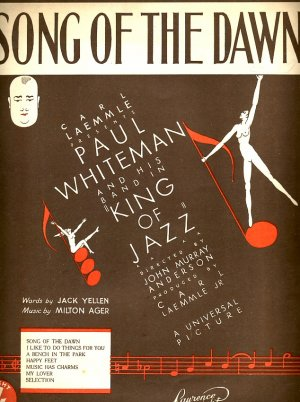 Song of the dawn - Old Sheet Music by Lawrence Wright