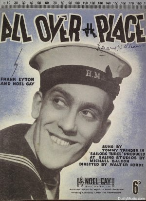 All over the place - Old Sheet Music by Noel Gay