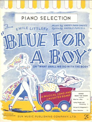Blue for a boy - Old Sheet Music by Sun