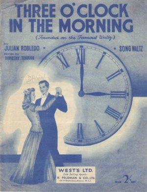 Three o'clock in the morning - Old Sheet Music by Feldman