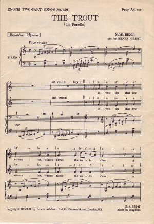 The Trout - Old Sheet Music by Edwin Ashdown Ltd