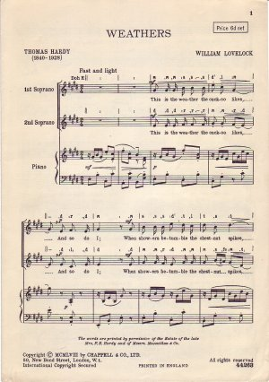 Weathers - Old Sheet Music by Cappell