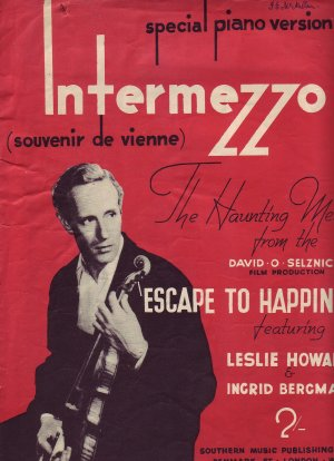 Intermezzo, special piano version - Old Sheet Music by Southern Music Publishing Co Ltd