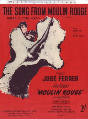 The song from Moulin Rouge - Old Sheet Music by Campbell Connelly