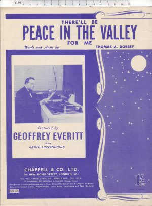 Peace in the valley - Old Sheet Music by Chappell