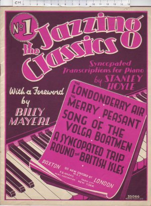 The Jazzing Classics, No1. - Old Sheet Music by Paxton